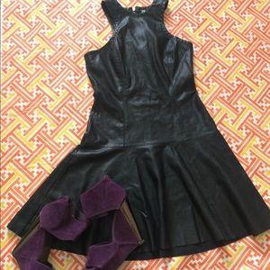 B.B. Dakota leather dress